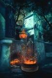 奥秘Helloween风景 免版税库存图片