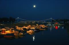 奥西耶克桥梁  图库摄影