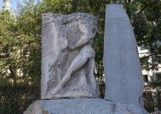 奥费斯输入地下世界、纪念碑反对战争和法西斯主义,维也纳,奥地利 免版税库存图片