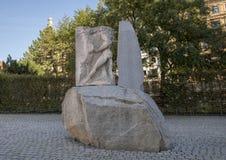奥费斯输入地下世界、纪念碑反对战争和法西斯主义,维也纳,奥地利 免版税库存照片