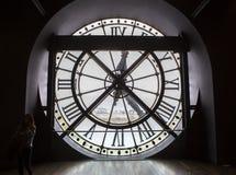 奥赛博物馆的钟表机构,巴黎,法国 免版税库存图片