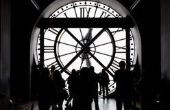 奥赛博物馆的钟表机构,巴黎,法国 免版税图库摄影