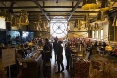 奥赛博物馆的钟表机构,巴黎,法国 库存照片
