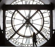 奥赛博物馆的钟表机构,巴黎,法国 免版税库存照片