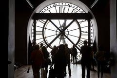 奥赛博物馆的钟表机构,巴黎,法国 库存图片