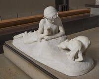 奥赛博物馆  平底锅和崽伊曼纽尔Fremiet 1867 免版税库存照片