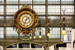 奥赛博物馆Musee d `奥赛时钟 法国巴黎 库存照片