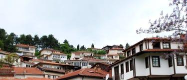 奥赫里德市,马其顿Arhitecture  库存图片