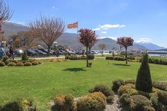 奥赫里德,马其顿沿海看法  库存图片