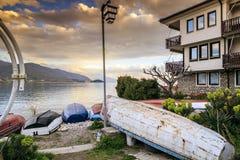 奥赫里德,马其顿沿海看法  库存照片