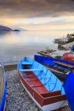 奥赫里德,马其顿沿海看法  免版税图库摄影