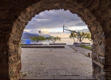 奥赫里德,马其顿沿海看法  免版税库存照片