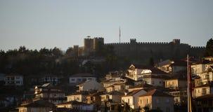 奥赫里德,马其顿, 2015年12月20日:奥赫里德和湖 联合国科教文组织城市 库存图片