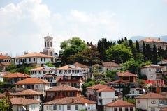奥赫里德, Ohrid湖,马其顿 图库摄影