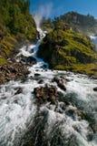 奥达瀑布,挪威 库存照片