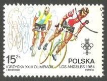 奥运会在洛杉矶,骑自行车 库存图片