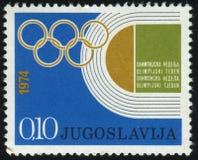 奥运会的象征 免版税库存图片