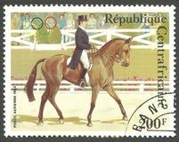 奥运会,在马展示的驯马 库存图片