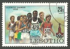 奥运会,莫斯科,马拉松 免版税库存图片