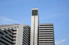 奥运村是一双塔structur 免版税库存照片