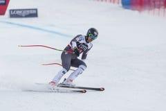 奥迪12月28日2017年-博尔米奥意大利- FIS滑雪世界杯 免版税图库摄影