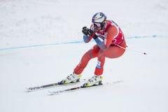 奥迪12月28日2017年-博尔米奥意大利- FIS滑雪世界杯 库存照片