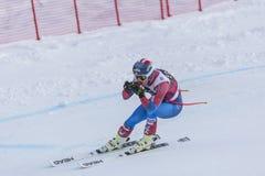 奥迪12月28日2017年-博尔米奥意大利- FIS滑雪世界杯 库存图片