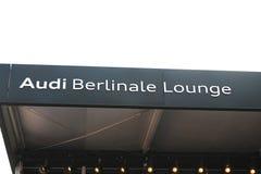 奥迪Berlinale休息室标志 免版税库存图片