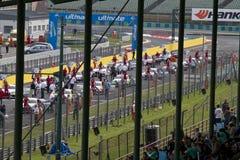奥迪DTM赛车开始 库存照片