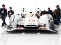 奥迪e-Tron R18正面图 图库摄影