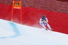 奥迪FIS高山滑雪的世界杯-下坡的人的泊松大卫 库存照片