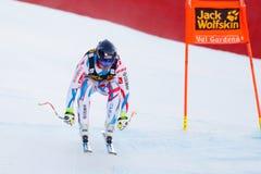 奥迪FIS高山滑雪的世界杯-下坡的人的泊松大卫 免版税库存照片