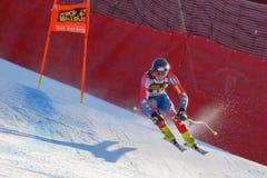 奥迪FIS高山滑雪的世界杯-下坡的人的班奈特布赖斯 免版税库存图片