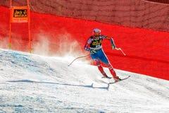 奥迪FIS高山滑雪的世界杯-下坡的人的莎莉文Marco 免版税库存图片