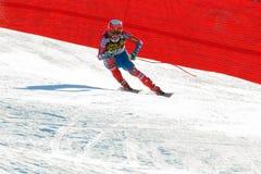 奥迪FIS高山滑雪的世界杯-下坡的人的莎莉文Marco 库存照片