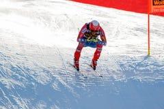 奥迪FIS高山滑雪的世界杯-下坡的人的莎莉文Marco 免版税库存照片