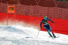 奥迪FIS高山滑雪的世界杯-下坡的人的巴黎多米尼克 免版税库存照片