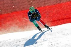 奥迪FIS高山滑雪的世界杯-下坡的人的巴黎多米尼克 免版税库存图片