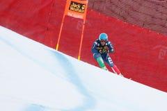 奥迪FIS高山滑雪的世界杯-下坡的人的费德里科Paini 库存照片