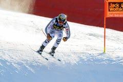 奥迪FIS高山滑雪的世界杯-下坡的人的Brandner克劳斯 免版税库存图片