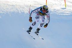 奥迪FIS高山滑雪的世界杯-下坡的人的Brandner克劳斯 图库摄影
