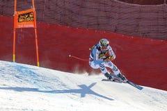 奥迪FIS高山滑雪的世界杯-下坡的人的Brandner克劳斯 库存照片