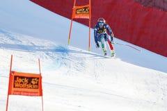 奥迪FIS高山滑雪的世界杯-下坡的人的Buzzi Emanuele 库存图片