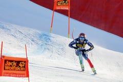 奥迪FIS高山滑雪的世界杯-下坡的人的Buzzi Emanuele 图库摄影