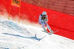 奥迪FIS高山滑雪的世界杯-下坡的人的Clarey约翰 库存图片