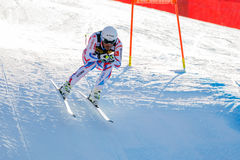 奥迪FIS高山滑雪的世界杯-下坡的人的Clarey约翰 图库摄影
