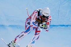 奥迪FIS高山滑雪的世界杯-下坡的人的Clarey约翰 库存照片