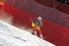 奥迪FIS高山滑雪的世界杯-下坡的人的FRISCH杰费 免版税库存图片