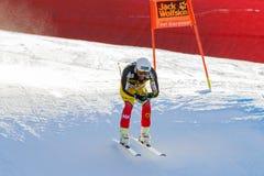 奥迪FIS高山滑雪的世界杯-下坡的人的FRISCH杰费 库存照片