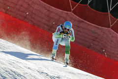 奥迪FIS高山滑雪的世界杯-下坡的人的Kline Bostjan 库存照片